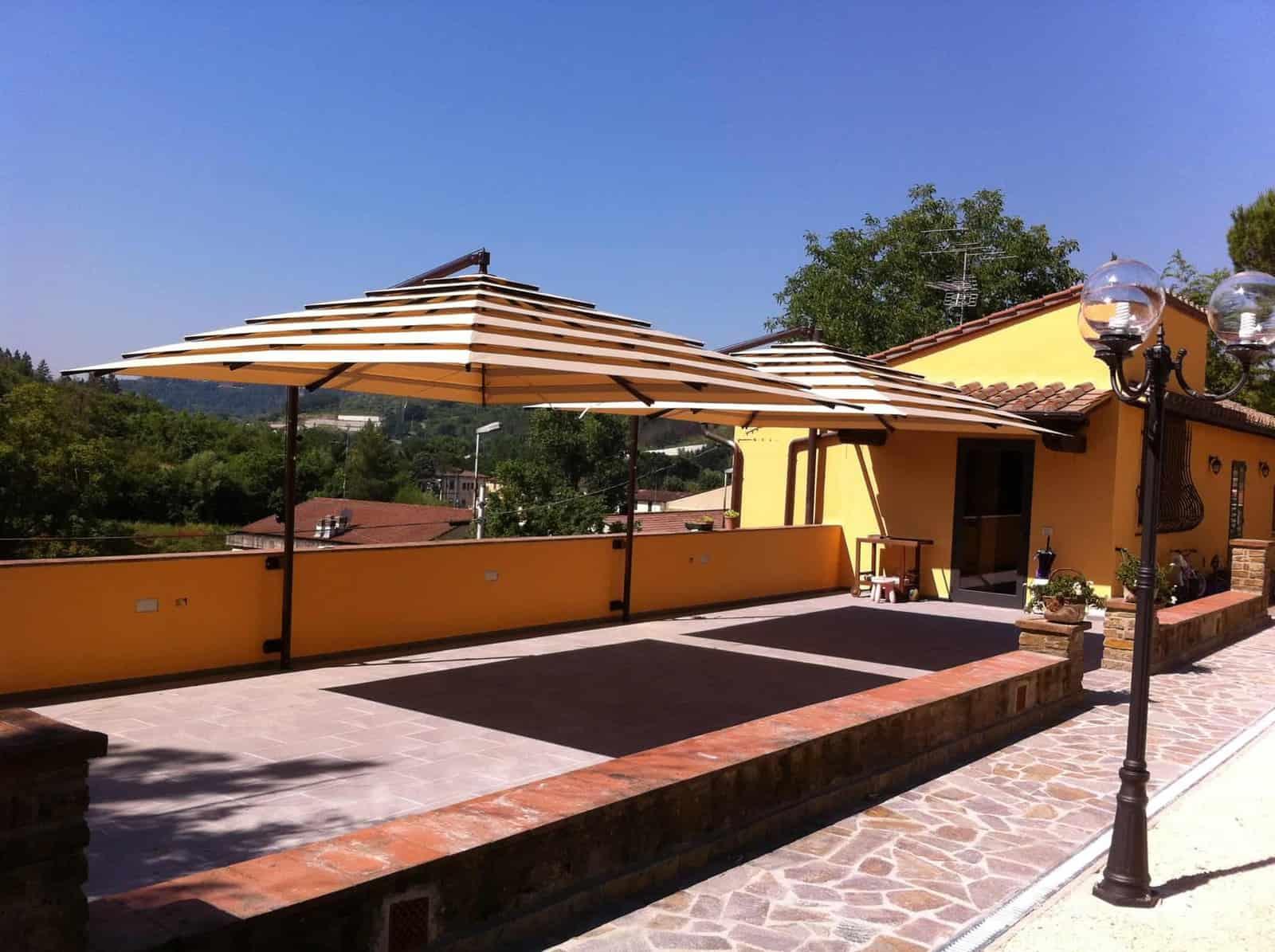 Parasol de jardin luxe haut de gamme   Fixation murale