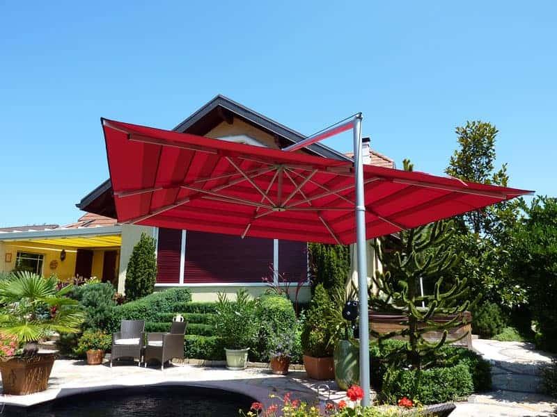 Lusso parasol avec capote multivalvola rouge garden art - Parasol deporte rouge ...